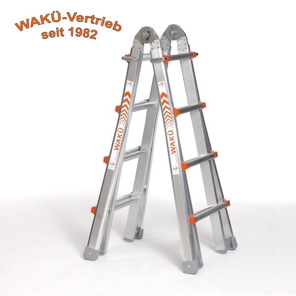 WaKü Teleskopleiter Art.-Nr. 101 4-14 Sprossen