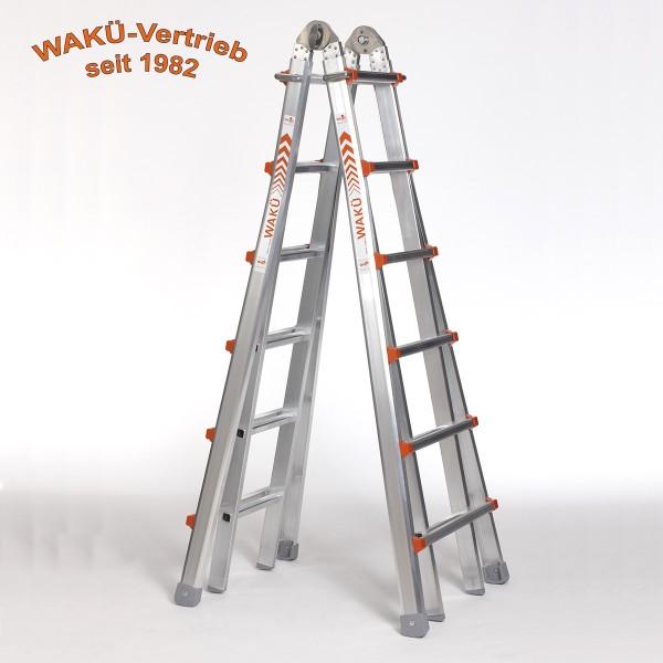 WaKü Teleskopleiter Art.-Nr. 103 6-22 Sprossen