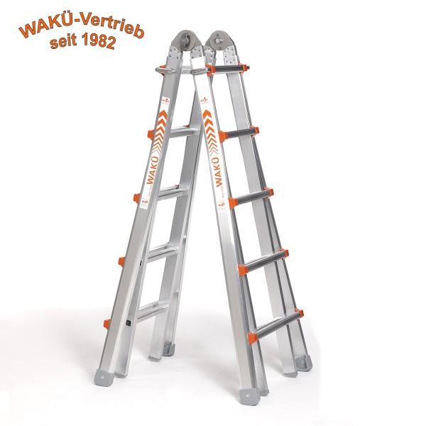 WaKü Teleskopleiter Art.-Nr. 102 5-18 Sprossen